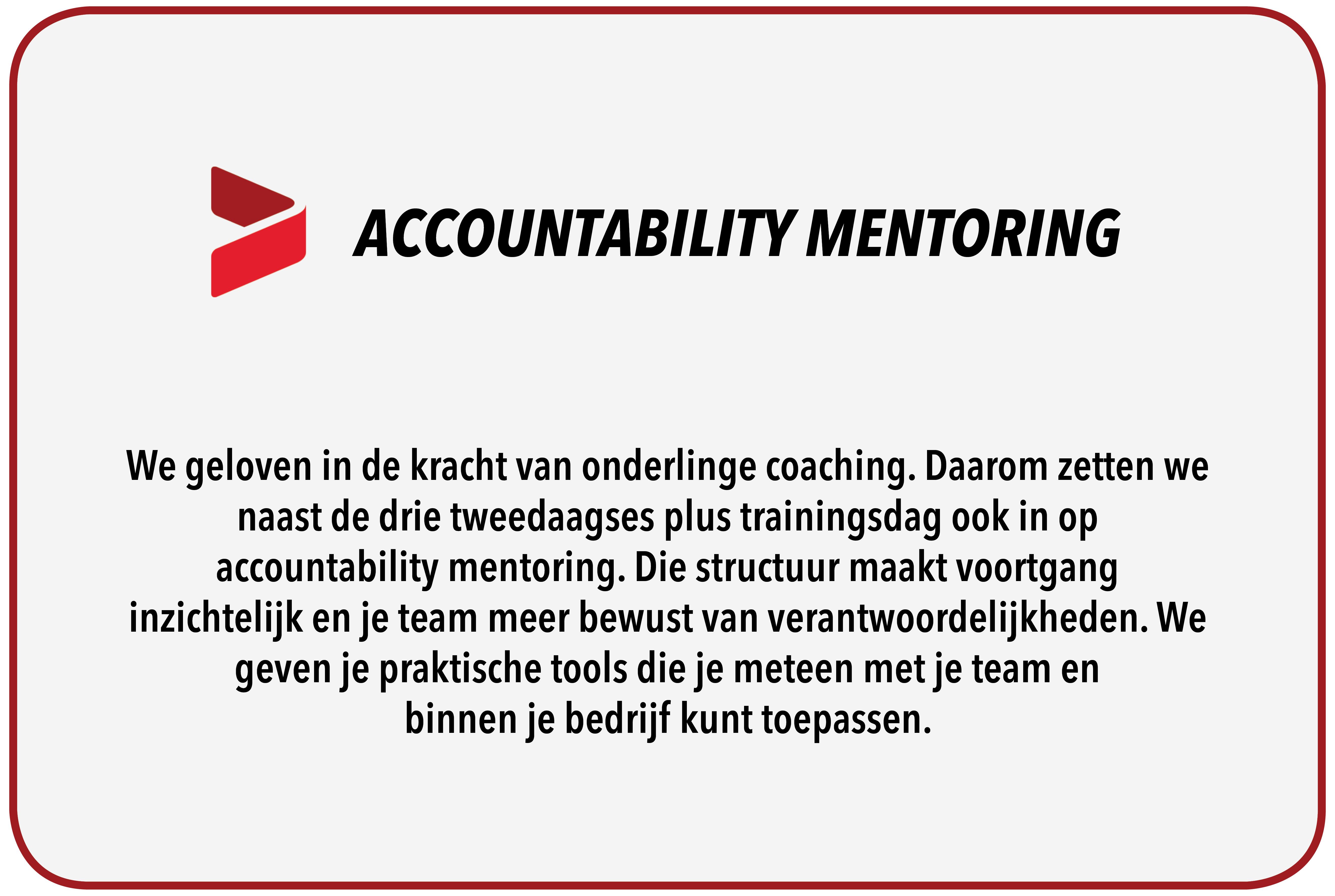 Accountability Mentoring!