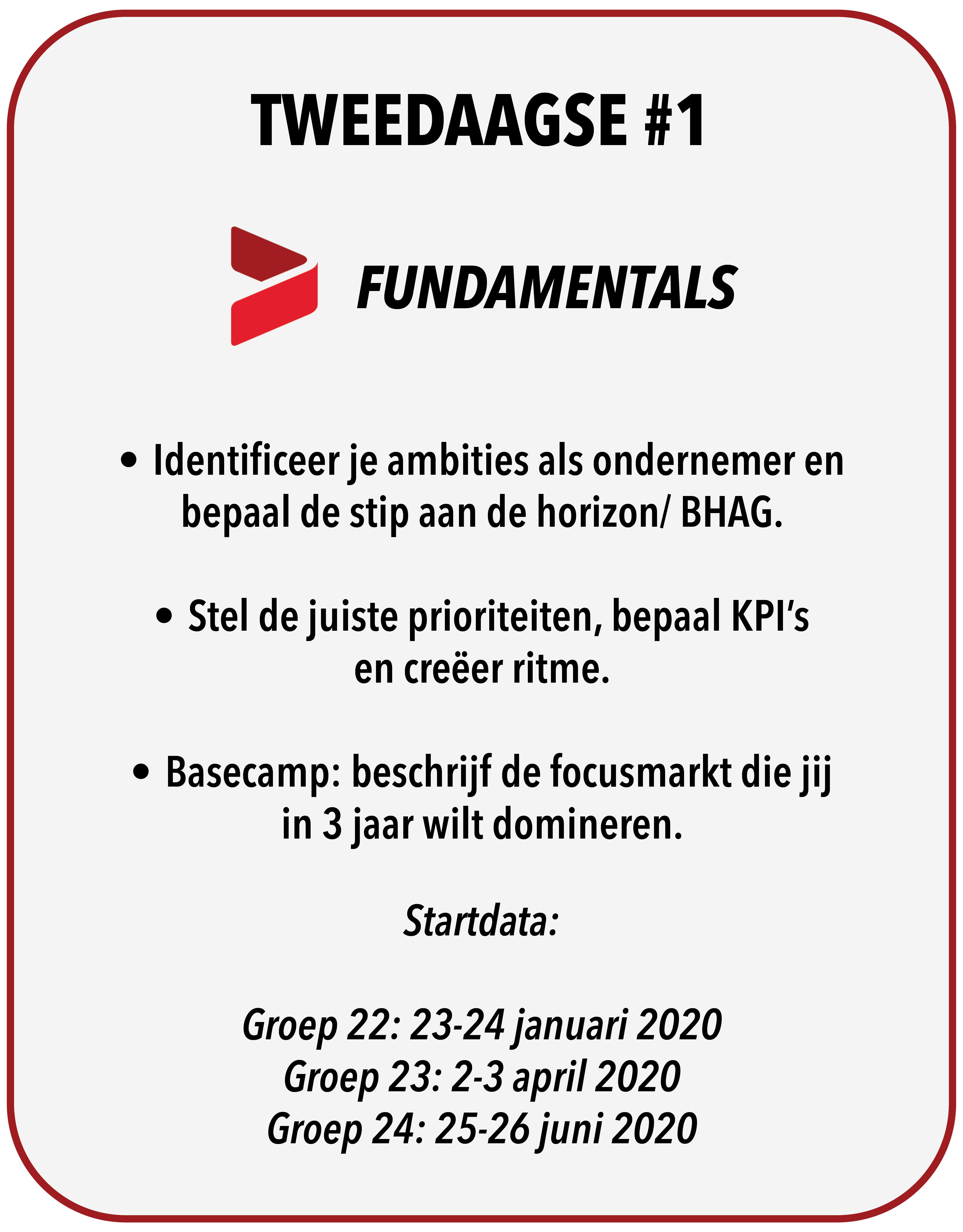 Tweedaagse #1 - Fundamentals!